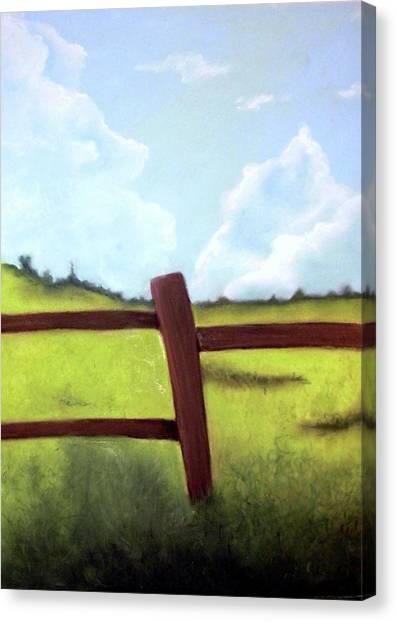Grass Is Greener Canvas Print by Corina Bishop