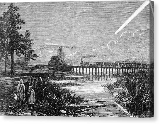 Great Comet Of 1882 Canvas Print by Royal Astronomical Society/science Photo Library