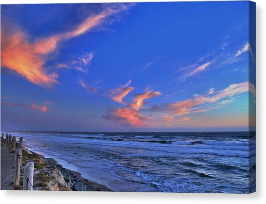Great Highway Sunset Canvas Print