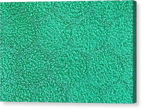 Flannel Canvas Print - Green Towel by Tom Gowanlock