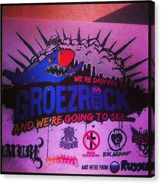 Punk Canvas Print - #groezrock #2013 #hardcore #punk by Dmitry Avdeev