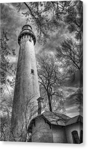 White House Canvas Print - Grosse Point Lighthouse by Scott Norris