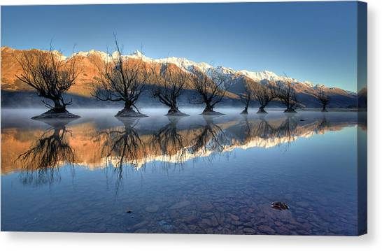 Guardians Of The Lake Canvas Print