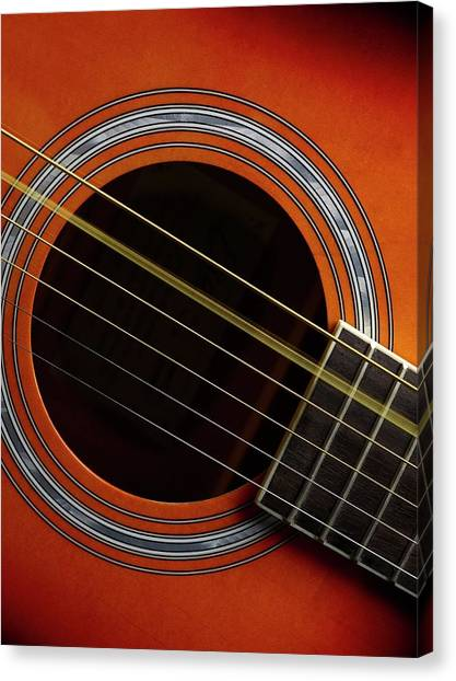 Principals Canvas Print - Guitar Strings At Rest And Vibrating by Science Photo Library