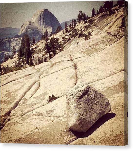 Amazing Canvas Print - Half Dome by Jill Battaglia