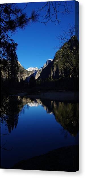El Capitan Canvas Print - Half Dome Reflecting by Scott McGuire