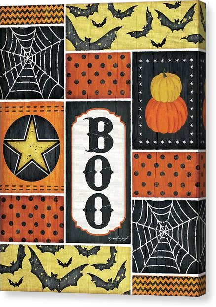 Spider Web Canvas Print - Halloween - Boo by Jennifer Pugh