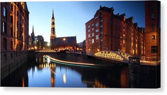 Hamburg Speicherstadt Canvas Print