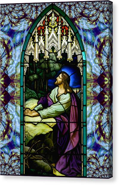 Handel Stained Glass Canvas Print