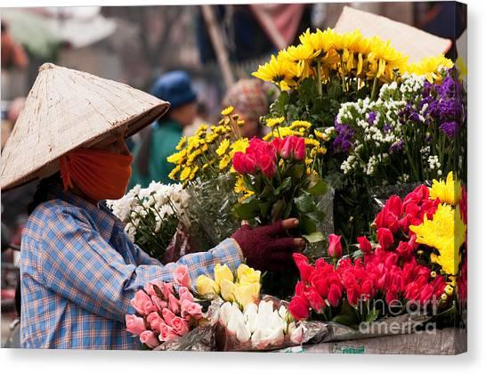 Hanoi Flowers 03 Canvas Print