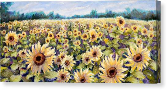 Happiness Field Canvas Print