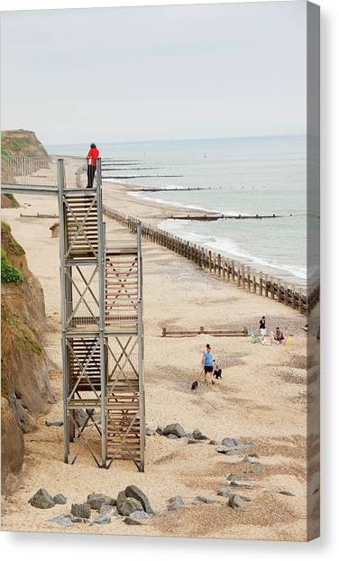 Beach Cliffs Canvas Print - Happisburgh by Ashley Cooper