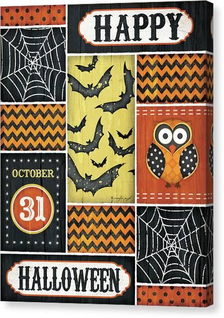 Halloween Canvas Print - Happy Halloween by Jennifer Pugh