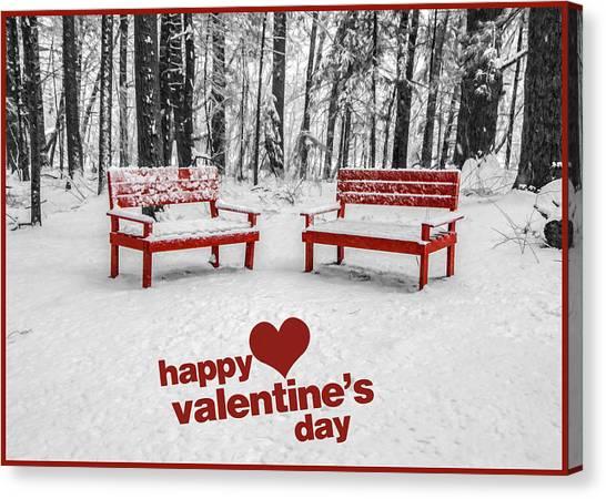 Happy Valentines Day Canvas Print