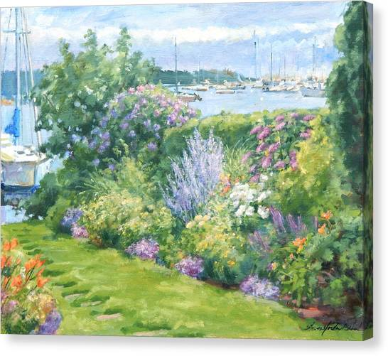 Harbor Garden Canvas Print by Sharon Jordan Bahosh