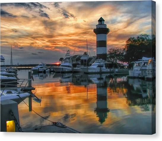 Harbour Town Sunset Canvas Print