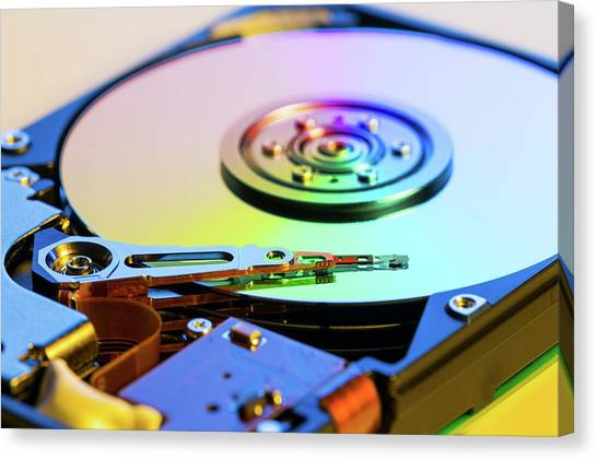 Computer Science Canvas Print - Hard Disc Drive by Wladimir Bulgar