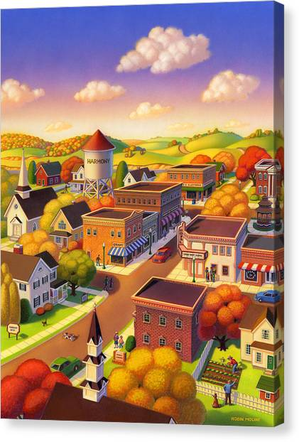 Smallmouth Bass Canvas Print - Harmony Town by Robin Moline