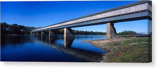 New Brunswick Canvas Print - Hartland Bridge, Worlds Longest Covered by Panoramic Images