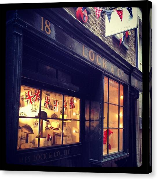 Hat Shop Jubilee Style Canvas Print by Maeve O Connell