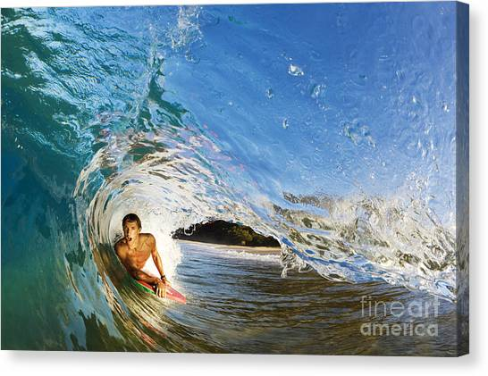 Bodyboard Canvas Print - Makena Boogie Boarder by MakenaStockMedia