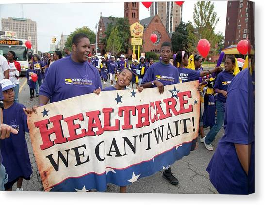Obamacare Canvas Print - Healthcare Reform Campaign by Jim West