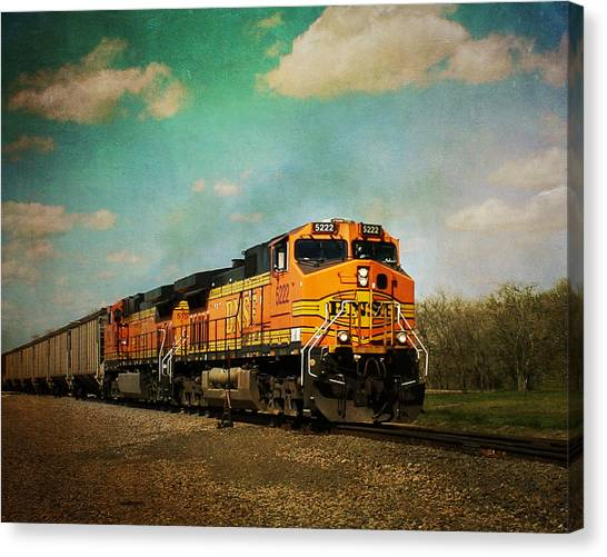 Hear The Train A Coming Canvas Print