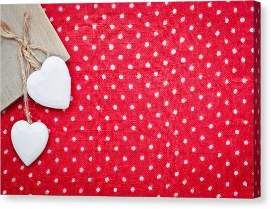 Red Knot Canvas Print - Hearts by Tom Gowanlock