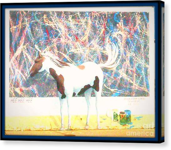 Hee Hee Hee 2 Framed Canvas Print