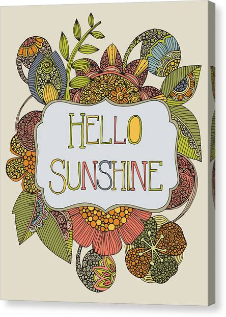 Love Canvas Print - Hello Sunshine by Valentina