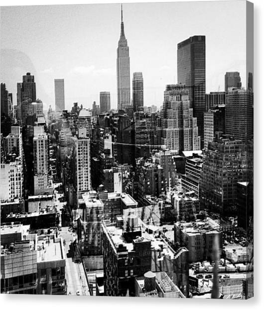 Brooklyn Nets Canvas Print - Hell's Kitchen by CD Kirven