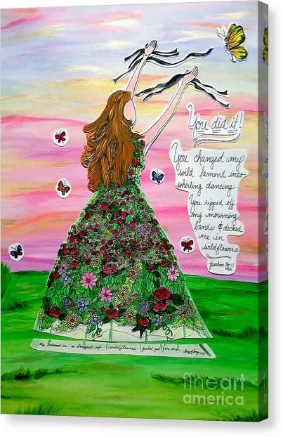 Her Name Is Wildflower Canvas Print by Michelle Bentham