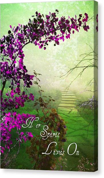 Her Spirit Lives On Canvas Print
