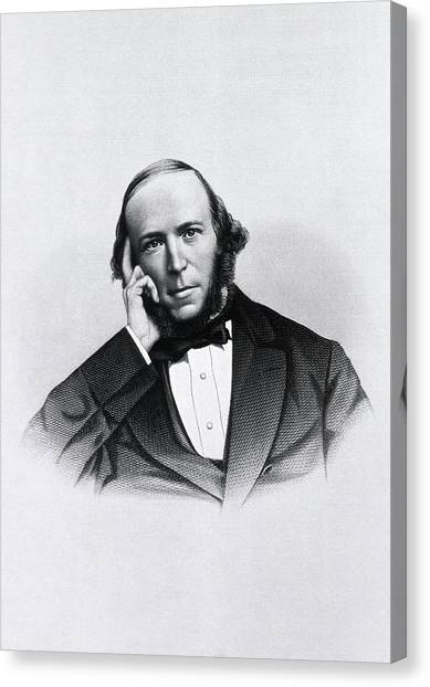 Political Science Canvas Print - Herbert Spencer by National Library Of Medicine