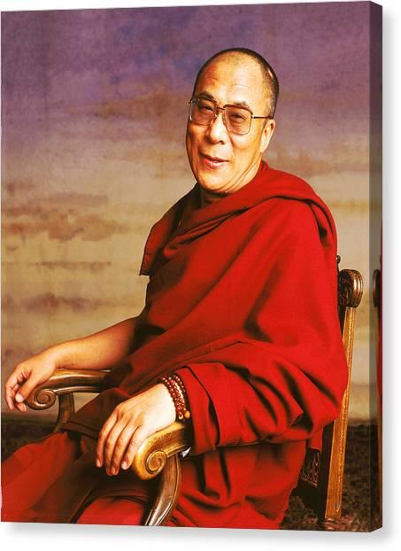 H.h. Dalai Lama Canvas Print