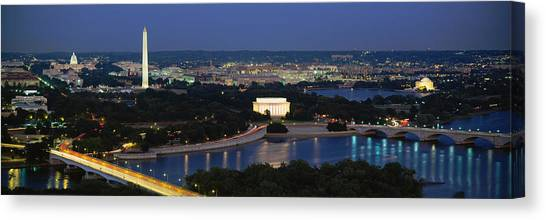 Capitol Building Canvas Print - High Angle View Of A City, Washington by Panoramic Images