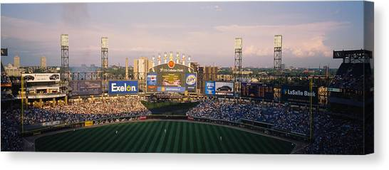 Chicago White Sox Canvas Print - High Angle View Of Spectators by Panoramic Images