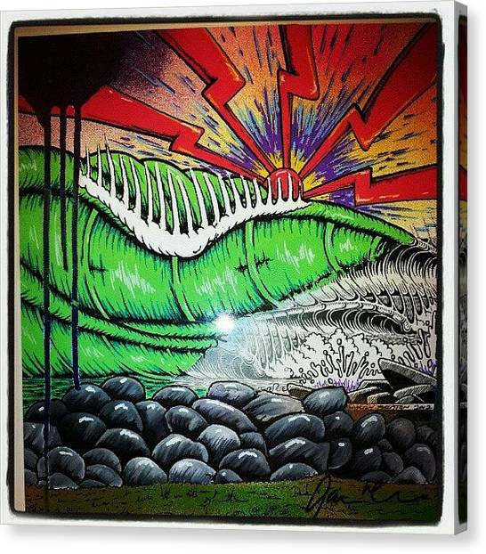 Surfing Canvas Print - High Tide. #surfart #surf by Gavin Mccrea