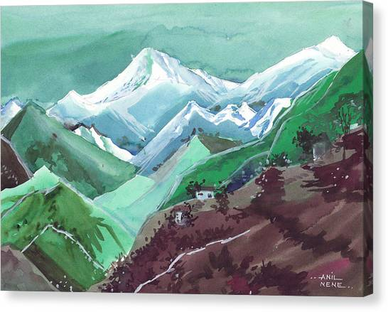 Bob Ross Canvas Print - Himalaya 2 by Anil Nene