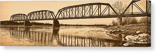 Historical Kinsey Bridge Canvas Print by Leland D Howard