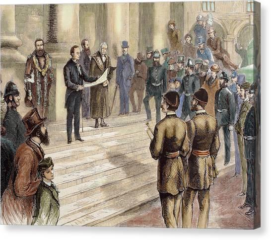 Fine Art India Canvas Print - History Of Great Britain by Prisma Archivo