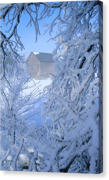 Hoarfrost Farm Canvas Print