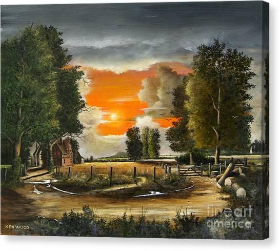 Hoggets Farm Canvas Print