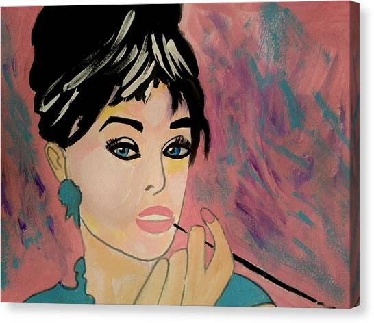 Audrey Hepburn - Holly  Canvas Print