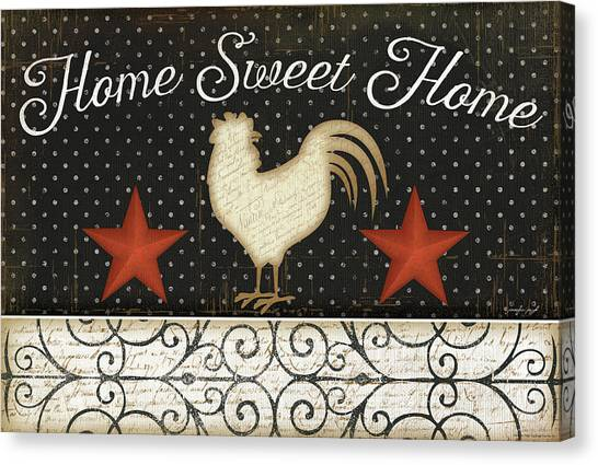 Chicken Farms Canvas Print - Home Sweet Home by Jennifer Pugh