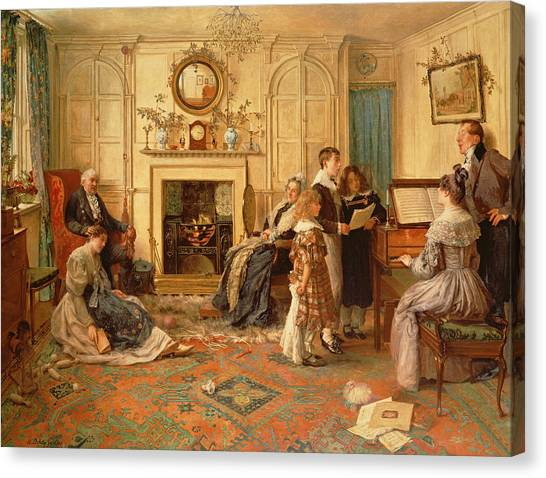 Mistletoe Canvas Print - Home Sweet Home by Walter Dendy Sadler