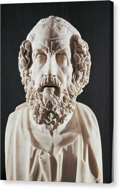 Hellenistic Art Canvas Print - Homer 9th Century  Bc. Greek Writer by Everett