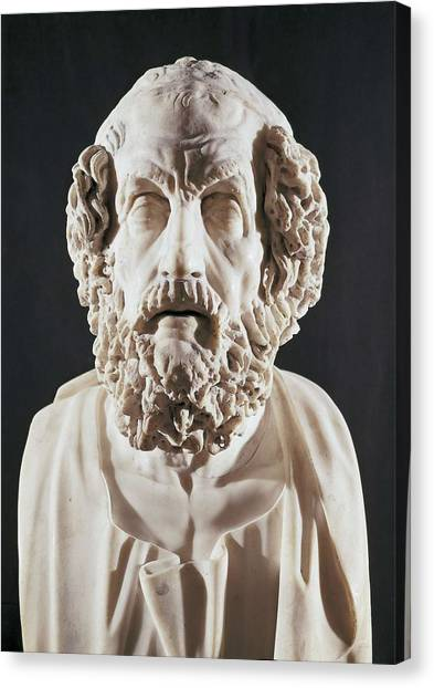 Hellenistic Art Canvas Print - Homer 9th Century  Bc. Roman Copy by Everett