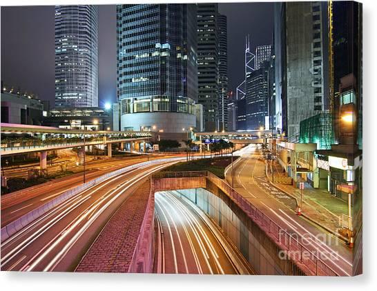 Hongkong Canvas Print - Hong Kong Rush Hour by Lars Ruecker