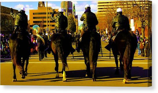 Horse Patrol Canvas Print